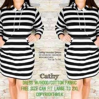 Cathy hoodie dress fits upto 2XL