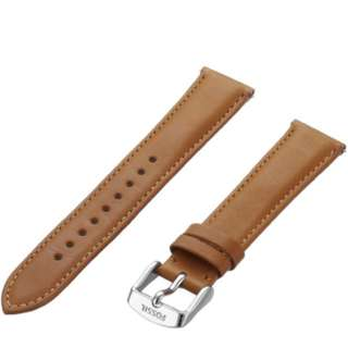 Fossil brown leather strap 18mm