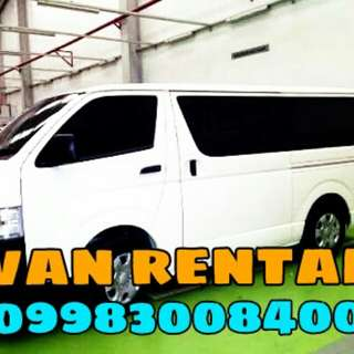Van for rent 09983008400