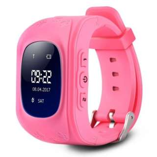 Q50 CHILDREN OLED DISPLAY GPS INTELLIGENT WATCH TELEPHONE (PINK) ENGLISH VERSION