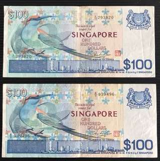 Bird Series $100 Notes