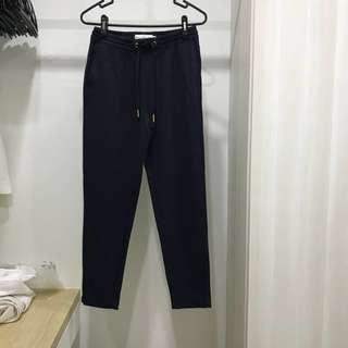 H&M Navy Blue Stripes Pants