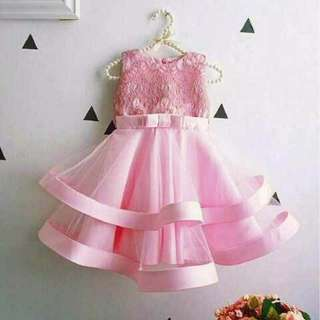 Dress giovani satin pink