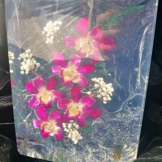Orchid rectangle plaque 26-57