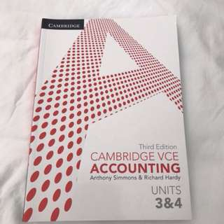 Accounting 3/4 textbook