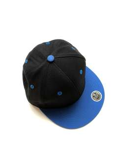 Topi Snapback Black and Blue Hitam Biru