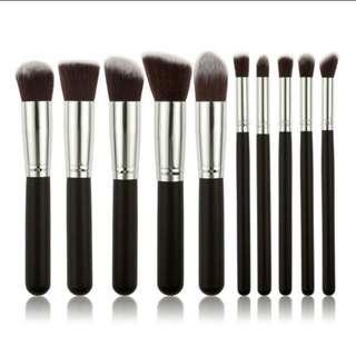 10 pcs brush make up free beauty blender