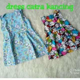 Dress catra kancing