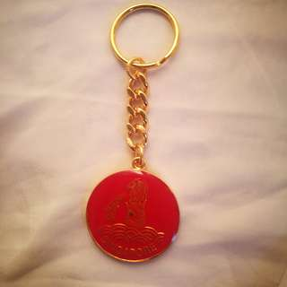 merlion key chain red colour