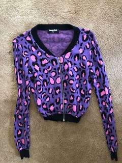 Dangerfield leopard print cardigan