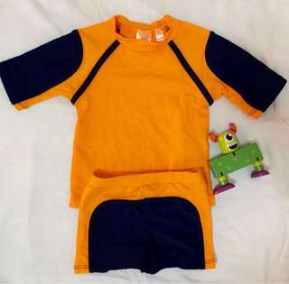 Orange swim wear for baby