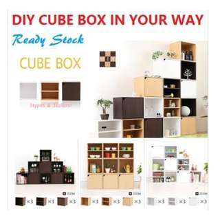 CUBIC STACKABLE STORAGE BOX - Upgraded design