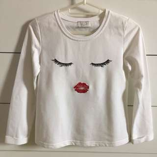 Pre❤️ SEED Girl Long Sleeves White Size 11