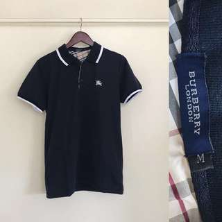 Burberry Navy Blue Men's Polo
