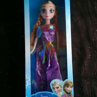 Boneka barbie frozen anna