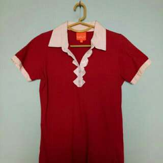 Maroon Polo Blouse (Mint)