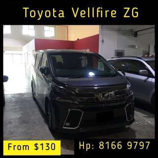 2018 Toyota Vellfire ZG Car Rental