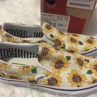 Vans sunflower 太陽花 slip-on new