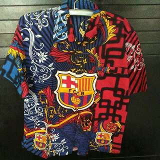 Kemeja batik Barca