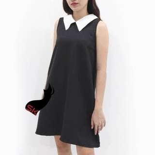 Delphinium Simple Collared Dress DC004 P255