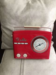 Box - metal radio collectible shape
