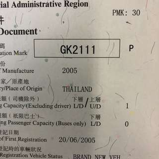 車牌號碼-GK2111