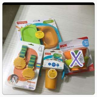 Brand new fisher NUK sippy cup bowl suction meal kit