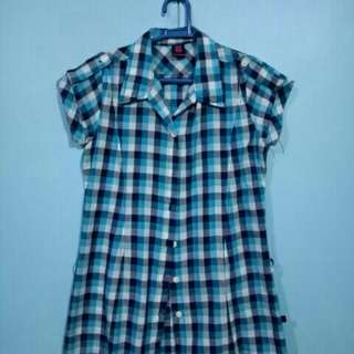 Blue Checkered Polo (BNY)