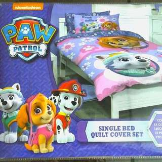 NEW Paw Patrol Single Bed  Quilt Cover Set