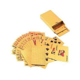 Monochromatic Gold Foil Playing Deck Cards (PVC)