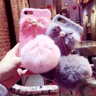Case iphone oppo fur ball fashion