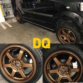BRONZE RIMS👍 SPRAY WITH US NOW CNY CNY!!!