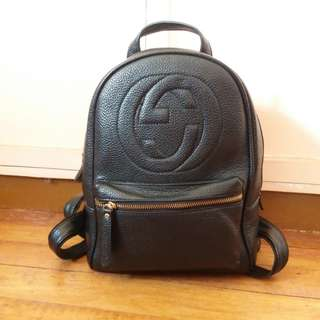 Gucci inspired Leather Backpack