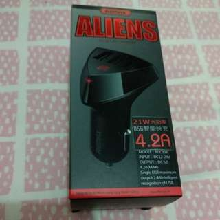 Remax Aliens 3usb car charger 4.2A
