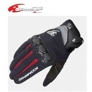 ★KOMINE GK-162 3D MESH RIDING GLOVES MOTORCYCLE GLOVE AIR MESH ★ RACING CYCLING TOUCH SCREEN SMART TIP ★E-SCOOTER GLOVES ★ BLACK RED ★ NEW ARRIVALS ★ E-BIKE DIRT BIKE ★ HURRY WHILE STOCK LASTS
