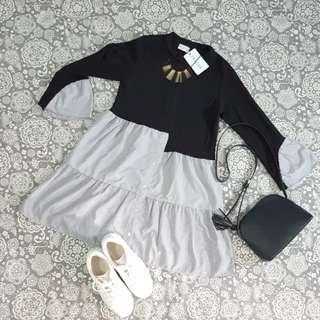 Dress cantik asimetris