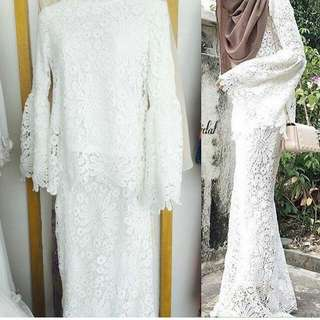 Sold / Lubna Flower Lace Kurung