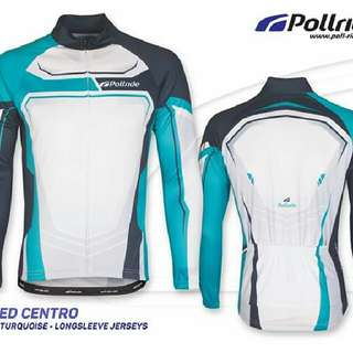 JERSEY SEPEDA POL! - SPEED CENTRO BLACK TORQUISE LONG SLEEVES
