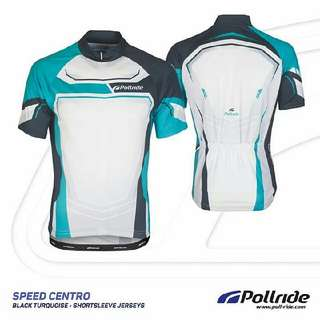 JERSEY SEPEDA POL! - SPEED CENTRO BLACK TORQUISE SHORT SLEEVES