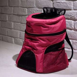 """Fuchsia"" Mini-Backpacker Cat Backpack Carrier"