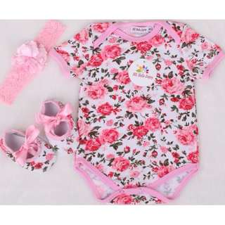 #102: Cotton Bodysuit Baby set 3pcs