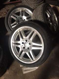 "Brabus 18"" with tires"