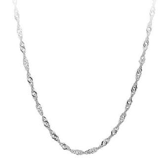 Sterling Silver Water Waves Necklace