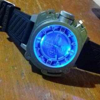 Diesel Batman watch light chrono import