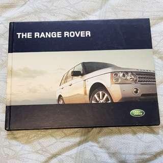 range rover landrover rangie vogue hse v8 sales brochure material hardcover hardback book catalogue