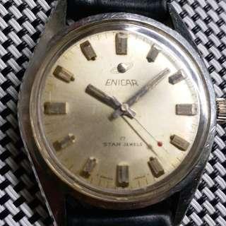 英納格古董錶,可較針上唔到鏈,唔行,當零件賣,36mm不連錶的,淨頭$250,有意請pm