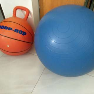 Gym Ball and kid bouncing ball
