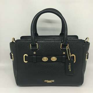 Coach Mini Blake Black GHW size 20/26x15 😍😍 (Same Size With Coach Swagger 21)
