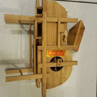 五穀豐收風榖機模型