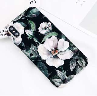 Case Iphone X Printing Flowers